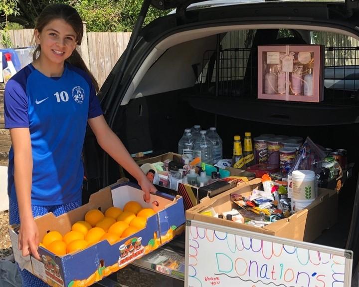 Schoolgirl sets up NHS donation station