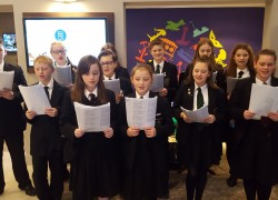 Choir sings at airport hotel