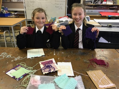 Students knit for premature babies