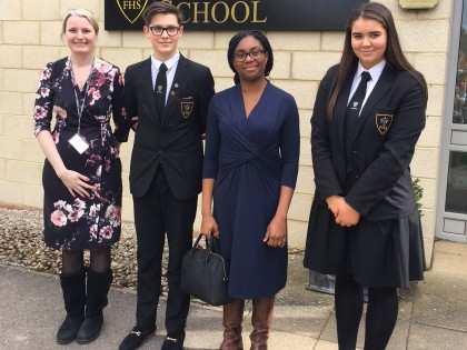 MP visits Forest Hall School