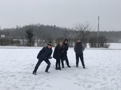 Students visit Danish friends