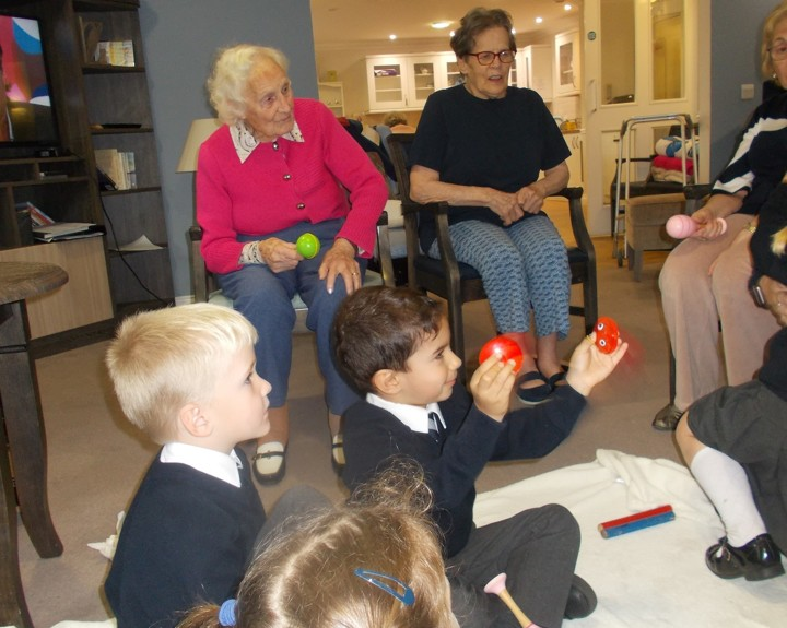 Children visit care home weekly