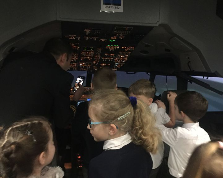 Pilot inspires aspirations in children